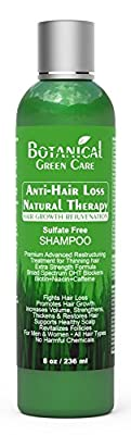 Anti-Hair Loss Premium Natural Therapy Organic Sulfate-Free Shampoos by Botanical Green Care