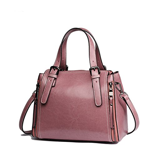 Pink coréen huile sauvage Sac sac Lxf20 Cire féminin féminin rétro à populaire fgW7qC