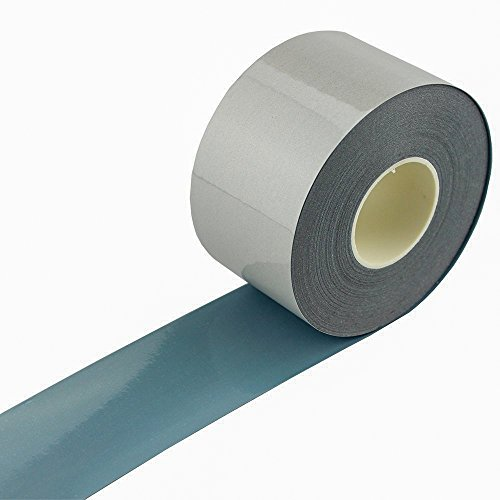 Elastic Silver Reflective Tape Iron On Fabric Heat Transfer Vinyl Film DIY 2