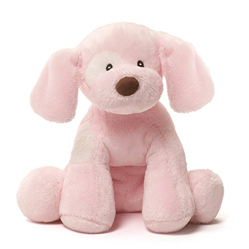 GUND Baby Spunky Dog Stuffed Animal Sound Plush, Pink, 8