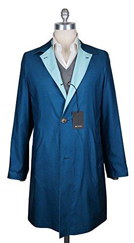 Reversible Silk Coat (Kiton Blue Reversible Raincoat 48/58)