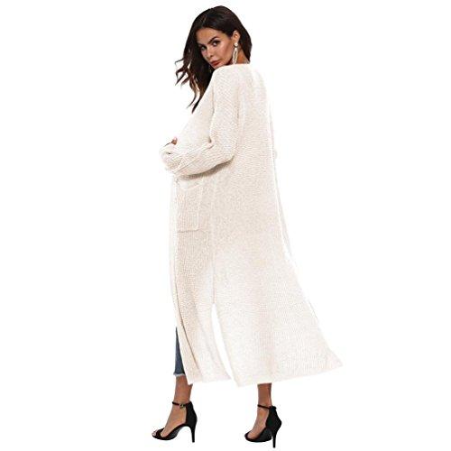Maglia Puro Delle Giacca Signore Donne Manica Camicetta Kimono 5 Più Casuale Yvelands Colori Cappotto Colore Beige Cardigan Capo Formato Autunno Uncinetto Di Aperte Lunga avWPxwqRP7