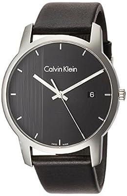 Calvin Klein City Black Steel Leather Men's Watch