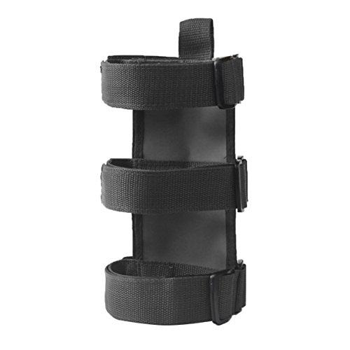 VXAR Fire Extinguisher Holder Adjustable Roll Bar Mounted for Jeep Wrangler(Black1) by VXAR