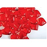 Translucent Red Acrylic Hearts for Vase Fillers Table Scatter Decoration