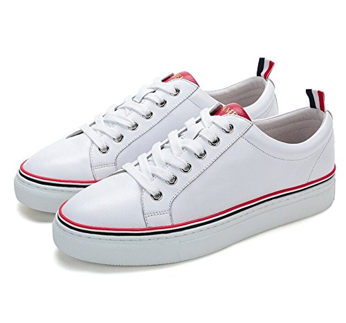 Camel Uomo Classico E Moderno Low-top Sneaker Colore Bianco / Rosso Taglia 44 M Ue