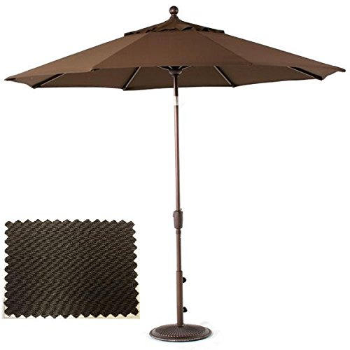 8.25' Deluxe Over-sized Market Umbrella with Tilt Function - Chocolate