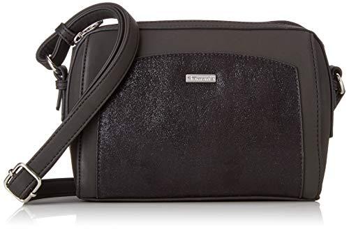 Tamaris - Sac à bandoulière Elsa, sacs à bandoulière Femme Noir (peigne noir)