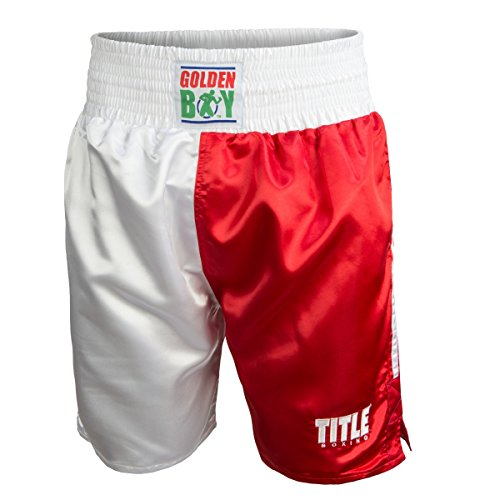 Golden Boy Pro Style Boxing Trunks, USA/Mexico, Large