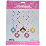 Creative Converting 324238 Donut Party Dizzy Danglers, Multisizes, Multicolor, 5ct