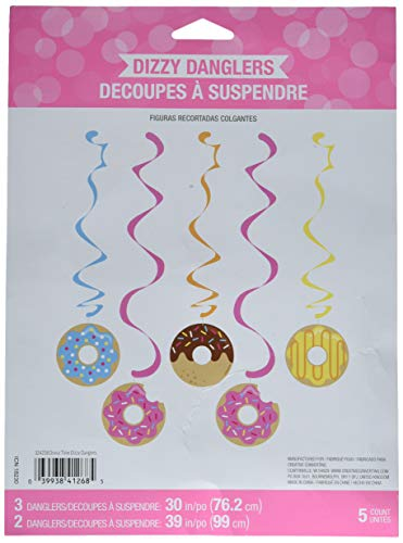 Creative Converting 324238 Donut Party Dizzy Danglers, Multisizes, Multicolor
