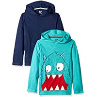 Spotted Zebra Boys' 2-Pack Light-Weight Hooded Long-Sleeve T-Shirts