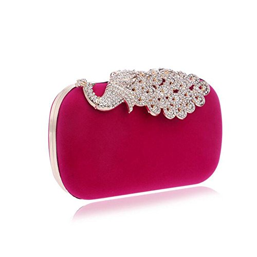 Wedding Des Nuptiale Diamand Femmes Fête Rose Clutch Bag Prom Sparkly Shoulder Soirée Red Ladies NAOMIIII wSxqz5C00