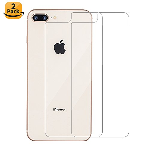 Maxdara iPhone 8 Plus Back Tempered Glass Screen Protector, Ultra-thin Touch Accurate Anti-Scratch Screen Protector [Case Friendly][Lifetime Replacements] for iPhone 8 Plus 5.5 inch (2 (Back Screen Protector Guard)