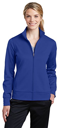 - Sport-Tek Ladies Sport-Wick Fleece Full-Zip Jacket (LST241) -TRUE ROYAL -XL