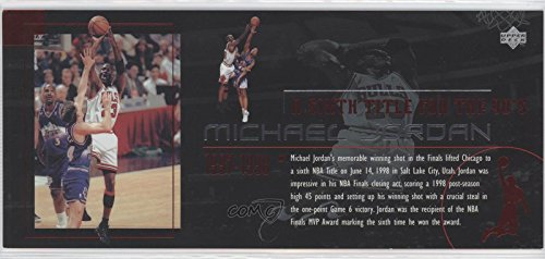 Michael Jordan (Basketball Card) 1999 Upper Deck Michael Jordan Career - Box Set Jumbo #CC6 (1999 Michael Jordan Upper Deck)