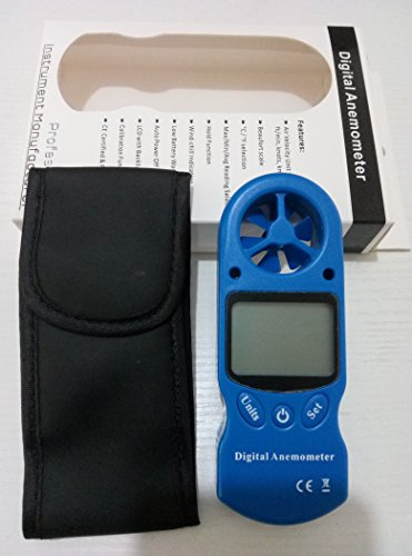 VTSYIQI TL-300 3 in 1 Digital Anemometer LCD Wind Speed Meter Gauge Air Flow Velocity Tester with Temperature and Humidity Measurement Resolution 0.1m//s Max//Min Reading Hold Function