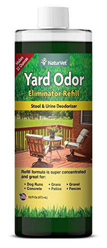 NaturVet - Yard Odor Eliminator - Eliminate Stool and Urine Odors from Lawn and Yard - Designed for Use on Grass, Plants, Patios, Gravel, Concrete & More - 16 oz Refill