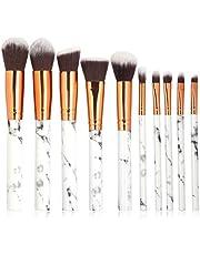 TOONEV Makeup Brushes Set, 10 Pieces Professional Beauty Marble Makeup Brushes Set Cosmetic Foundation Brush Powder Brush Eyeshadow Brushes