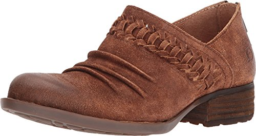Born Katharina Rust Tobacco Distressed Leather Women's Slip on Shoes