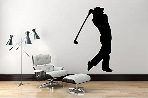 "Maxx Graphixx Golf Player Wall Decal - 45"" x 27"" Golf Player Silhouette Vinyl Decal - Golf Player 4"