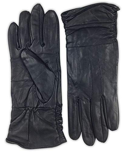 Womens Premium Leather Gloves 100-percent genuine lambskin leather  Thinsulate