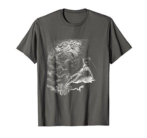 Dore T-shirt - Don Quixote T Shirt, Ravens and Bats - Dore