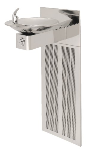 Haws H1001.8HPS Stainless Steel 18 Gauge Barrier-Free High Polished Electric Water Cooler with Round Sculpted Bowl (Chiller and Mounting Frame Not Included) by Haws