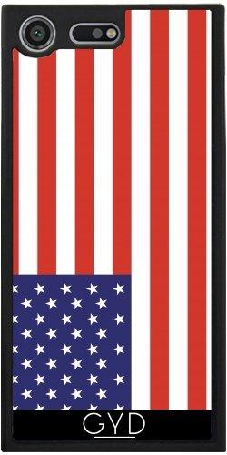 Funda Silicona para Sony Xperia XZ Premium - Bandera Estadounidense by Tom Hill