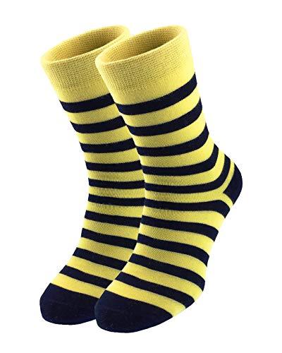 MO-KO-KO Men's & Women's Striped Socks - Funny, Colourful, Crazy, Cool, Designer Socks (6-10, Strip of luck (Women's socks))