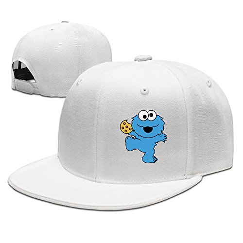 Children's Television Show Nom Nom Nom Cookie Monster Baseball Snapback Cap (Cookie Monster Pattern Game)