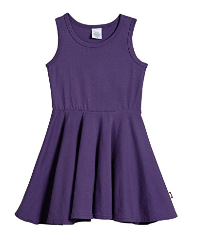 City Threads Little Girls' Cotton Party Twirly Tank Dress - Sensitive Skin and Sensory Friendly - School Summer, Purple, Size 3T ()
