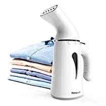 Homever Clothes, 75s Ultrafast Heat Up Handheld, Mini Portable Garment Steamer for Suitcase, Travel and Home, Compact,White