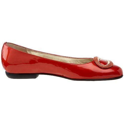Amalfi by Rangoni Womens Clear Flat Red Patent MpMYPzn