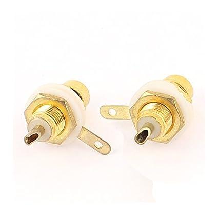 eDealMax Amplificador Mujer Clasis Panel PCB conector de Audio RCA Conector 2 piezas