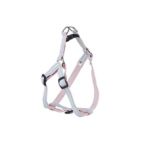 POOCHEE DESIGNS Dog Harness, Medium, Baby Blue Stripe on ...