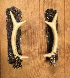 LuxMart Cast Iron Left & Right Hand Antler Door Pull Handle 8