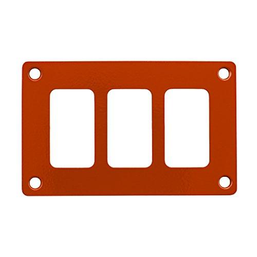 STV MOTORSPORTS Universal Switch Dash Panel Custom CNC Billet Aluminum 3 Rocker Switch Slots (Orange) by STVMotorsports (Image #1)