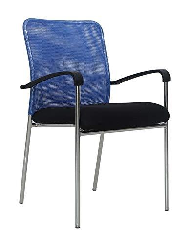 Grupo SDM Pack de 6 Sillónes Glamor, Malla Azul, Tejido ...