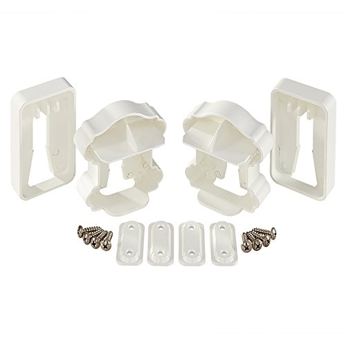 Fiberon (5 Packs of 2) White Classic Rail Bracket, 10 Pairs Total