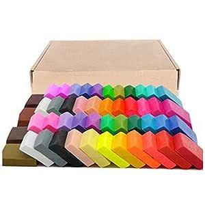 ACAMPTAR Arcilla Polimerica De 50 Colores, DIY Artesania De ...