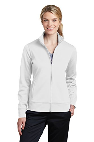 Sport-Tek Womens Sport-Wick Fleece Full-Zip Jacket (LST241) -WHITE -XXL (Bell Lightweight Sweater)