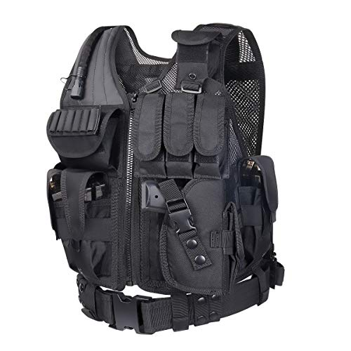 WOLIORS 211 Outdoor Vest Police Law Enforcement Costume Military Swat Paintball Airsoft Tactical Vest -