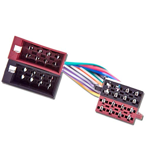 Male to Female ISO Lead Stereo Radio Wiring Harness Adaptor Cable Connector Loom: