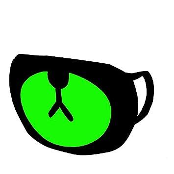 Rightwell Reflexivo Boca Máscara Oso Lindo para Niños y Niñas Oreja-lazo Algodón Negro Boca