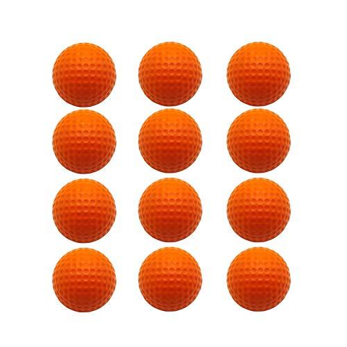 FingerTen Golf Balls Practice Foam Value 12Pcs/24Pcs,Soft Elastic Restricted Flight Indoors and Outdoors Training Aid Ball (Orange, ()