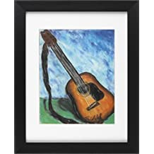 Acoustic Guitar - Music Framed Art Print