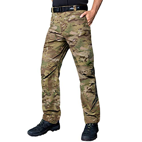 FREE SOLDIER Tactical Pants Mens Cargo Trousers Camping Explorer Water Resistance Pants(CP Camouflage 38W/31.5L)