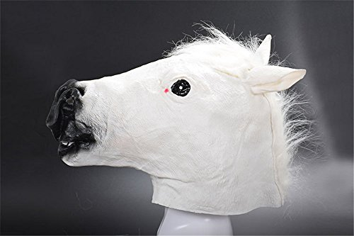 CHOP MALL Horse Head Costume Mask Happy Halloween Dress-Up Costume Party Novelty Mask for Halloween Party Masquerade Cosplay Festival Parties