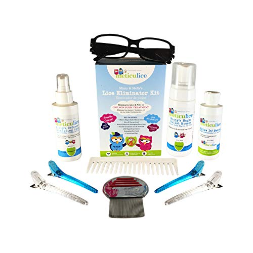 (Meticulice Head Lice Treatment Professional Removal & Elimination Complete Kit Natural - Kit Completo de Eliminación y Eliminación Profesional Meticulice Head Lice Treatment)